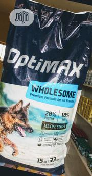 Optimax Dog Food Puppy Adult Dogs Cruchy Dry Food Top Quality | Pet's Accessories for sale in Lagos State, Ikoyi