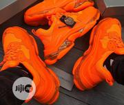 Balenciaga Triple S Clear Sole Sneakers (Orange) | Shoes for sale in Lagos State, Lagos Island