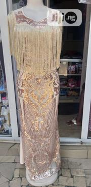 Long Cream Colour Dinner Gown | Clothing for sale in Rivers State, Obio-Akpor