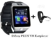 Dz09 SMARTWATCH + V8 Bluetooth Earpiece For Just #6500-waoo Good Prize | Smart Watches & Trackers for sale in Rivers State, Port-Harcourt
