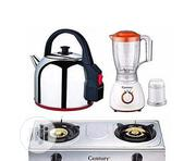 Century Super Bundle-Table Top Gas Cooker+Blender Electric Kettle | Kitchen Appliances for sale in Lagos State, Lagos Mainland