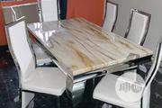 A Classy Six Seater Marble Dining Table | Furniture for sale in Rivers State, Port-Harcourt