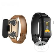 Smart Watch With Wireless Earbod | Smart Watches & Trackers for sale in Enugu State, Enugu