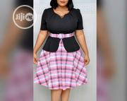 Quality Flare Female Office Gown With Belt | Clothing Accessories for sale in Lagos State, Ikeja