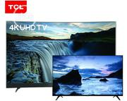 TCL 55-inch 4K UHD Smart Curved TV + FREE 32 Inch HD Digital Flat TV | TV & DVD Equipment for sale in Ondo State, Okitipupa