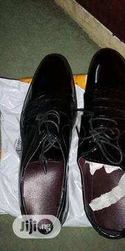 Men Sleek Leather Lace-Up Formal Shoes -Black | Shoes for sale in Lagos State, Ilupeju