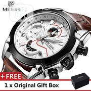 Luxury Leather Army Megir Quartz Watches | Watches for sale in Lagos State, Ikoyi