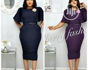 Cherry Fitted Female Gown With Belt | Clothing Accessories for sale in Lagos State, Ikeja