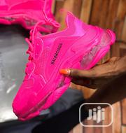 "Triple S Clear Sole Sneakers ""Pink"" 