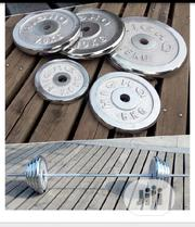 50kg Anti Rusts Chrome Steel Dumbbells Barbells Set Weight Plates | Sports Equipment for sale in Lagos State, Ipaja