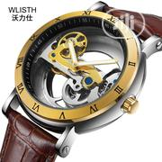 Leather Wallace Mechanical Waterproof Men's Hollow Cool Watch   Watches for sale in Lagos State, Lekki Phase 1