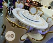 A New Turkey Cristal Marble Dining Table By-6 | Furniture for sale in Lagos State, Lekki Phase 1