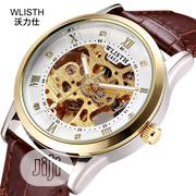 Waterproof Genuine Leather Mechanical Automatic Men's Watch | Watches for sale in Lagos State, Ikeja