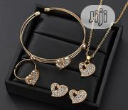 Romantic Crystal Heart Shape Chain Necklace Earrings Jewelry Sets | Jewelry for sale in Abuja (FCT) State, Lugbe District