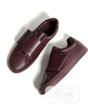 Burgundy Sneakers With XL Straps | Shoes for sale in Lagos State, Ikeja
