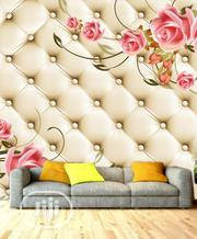 Pink Floral 8D Button Custom Photomural For Homes Offices And Hotels | Home Accessories for sale in Lagos State, Ikeja