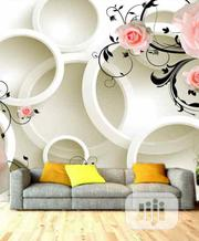 8D White And Pink Floral Wall Mural For Homes Hotels And Offices | Home Accessories for sale in Lagos State, Ikeja
