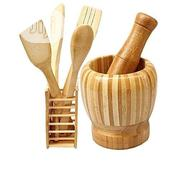 Wooden Spoons Set Portable Mortal Pestle | Kitchen & Dining for sale in Lagos State, Lagos Mainland