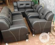 7-Seater Black Leather Sofa | Furniture for sale in Lagos State, Ikeja