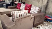 L -Shape 7-Seater Suede Material Fabric | Furniture for sale in Lagos State, Ikeja