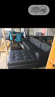 5siters Black Leather Lshape Chair | Furniture for sale in Lagos State, Ajah