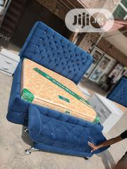 6×6 Fabric Padded Bedframe With Imported Orthopedic Spring Mattress | Furniture for sale in Lagos State, Ojo