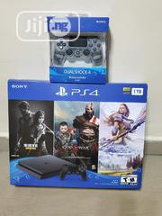 PS4 Slim 1TB With Extra Controller And 3 Games   Video Games for sale in Abuja (FCT) State, Jabi