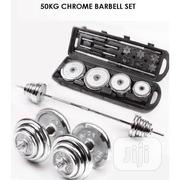 High Quality 50kg Chrome Steel Anti-rust Dumbbells Barbells With Case | Sports Equipment for sale in Abuja (FCT) State, Jabi
