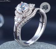 Samira Sterling Silver Wedding Ring Set. | Jewelry for sale in Delta State, Warri