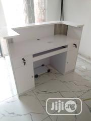 Wooden White Receptionist Table(1.4 Meters) | Furniture for sale in Lagos State, Ojo