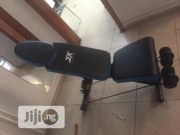 Brand New Imported Jx Fitness Adjustable Sit-Up Bench With Dumbell.