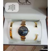 Ck Gold Wrist Watch and Bracelet | Jewelry for sale in Lagos State, Surulere