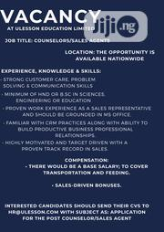 Counselors/Sales Agents | Sales & Telemarketing Jobs for sale in Lagos State, Ikeja
