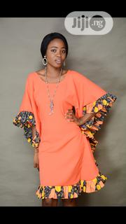 Butterfly Dress With Ankara Mix | Clothing for sale in Lagos State, Lekki Phase 1