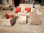 An L Shape and Single Sofa With Ottoman | Furniture for sale in Lagos State, Magodo