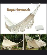 Comfy Macrame Hanging Bed Cotton Rope Swing Hammock Bed For Outdoor | Furniture for sale in Edo State, Benin City