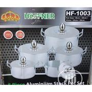 Hoffner 5 in 1 Aluminium Cookware Set | Kitchen & Dining for sale in Lagos State, Ikeja