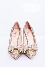 Glittery Bow High Heel Pump Shoes | Shoes for sale in Lagos State, Lekki Phase 1