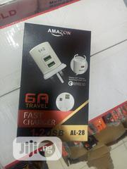 6A Amazon Fast Charger 1+2usb Al-28 3in1 | Accessories for Mobile Phones & Tablets for sale in Lagos State, Ojo
