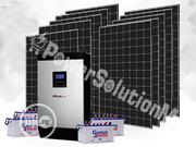 5kva Inverter Solar Combo 4 X 200ah Batteries And 8 X200w Solar Panel | Solar Energy for sale in Lagos State, Ikeja