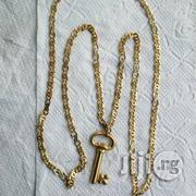 Brand New 18krt Gold Unique Scissors Wit Key Pendant   Jewelry for sale in Lagos State, Lagos Island