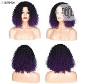 Black Deep Purple Short Hair Sliky Wigs | Hair Beauty for sale in Lagos State, Ikoyi