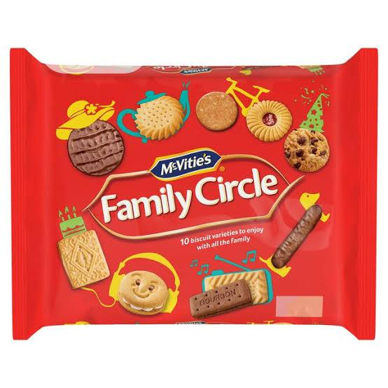 Mcvitie's Family Circle Biscuits Assortment 360g
