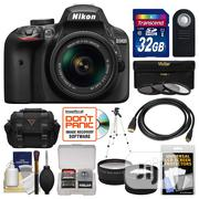 Nikon D3400 Digital Slr Camera 18-55mm Vr Dx Af-P Zoom Lens Black | Photo & Video Cameras for sale in Lagos State, Ikeja