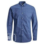 Authentic Bulk Jack and Jones Mens Blackpool LS Shirt - Blue | Clothing for sale in Lagos State, Maryland