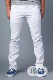 Fashion Men White & Black Jeans Trousers   Clothing for sale in Lagos State, Ikeja