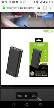 20000ah Oraimo Power Bank | Accessories for Mobile Phones & Tablets for sale in Lagos State, Ojo