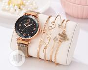 Luxury Brand Starry Sky Magnet Woman Watch With 4 Bracelet | Jewelry for sale in Lagos State, Lagos Mainland