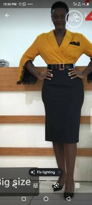 Gold and Black Office Dress for Plus Sizes   Clothing for sale in Rivers State, Port-Harcourt