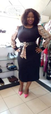 Black Office Dress With Animal Skin Hand, Available at Wholesale Price | Clothing for sale in Rivers State, Port-Harcourt